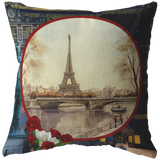 Vintage Eiffel Tower Pillow