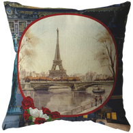 Vintage Eiffel Tower Pillow - The Green Gypsie