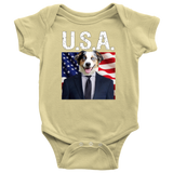 Aussie Australian Shepherd USA Onesie - The Green Gypsie