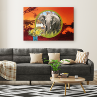 Emma Elephant Rectangle Canvas - The Green Gypsie