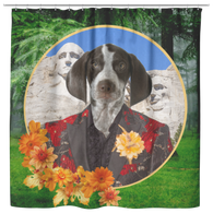 Piper Pointer Shower Curtain