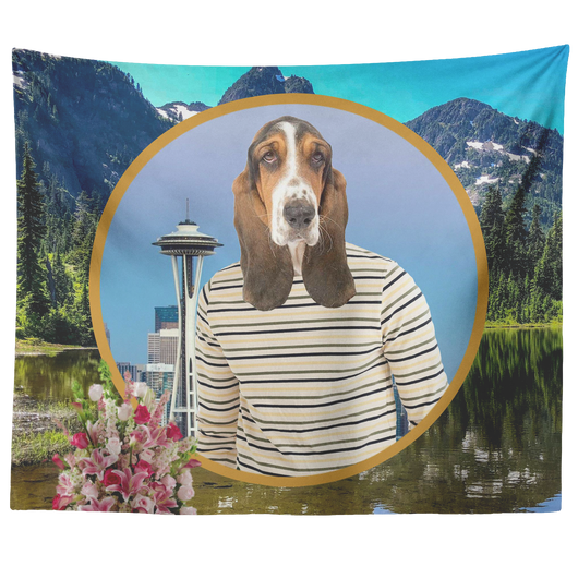 Henry Basset Hound Tapestry - The Green Gypsie