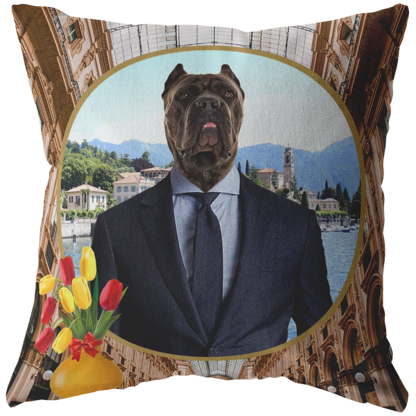 Charlie Cane Corso Pillow - The Green Gypsie
