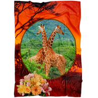 Lucy & Ricky Giraffe Blanket - The Green Gypsie