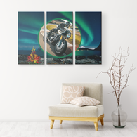 Motorcycle 3 Canvas Set - The Green Gypsie