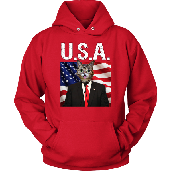Cheerio Cat USA Hoodie - The Green Gypsie