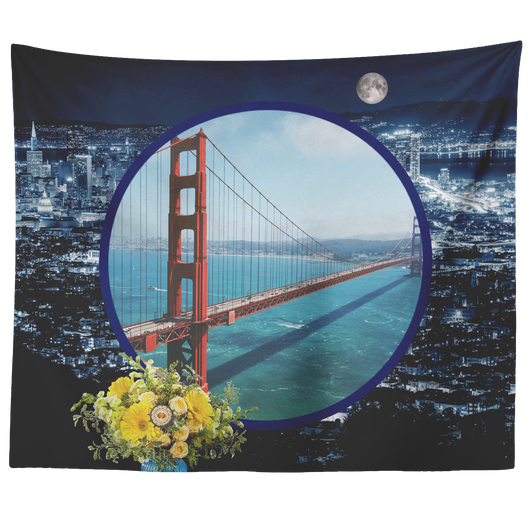San Francisco Tapestry - The Green Gypsie