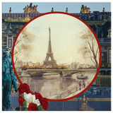 Vintage Eiffel Tower Square Canvas - The Green Gypsie