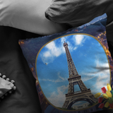 France Eiffel Tower Pillow