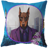 Prince Doberman Pincher Pillow - The Green Gypsie