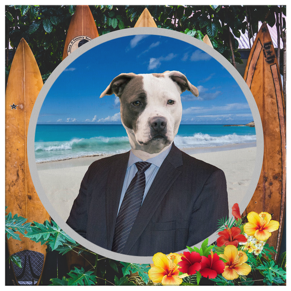 Peter Pit Bull Terrier Canvas - The Green Gypsie