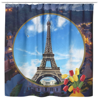 France Eiffel Tower Shower Curtain
