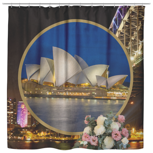 Australia Shower Curtain - The Green Gypsie