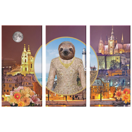 Rory Sloth 3 Canvas Set - The Green Gypsie