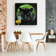 Thor Black Jaguar Square Canvas - The Green Gypsie