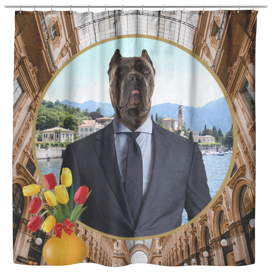 Charlie Cane Corso Shower Curtain - The Green Gypsie