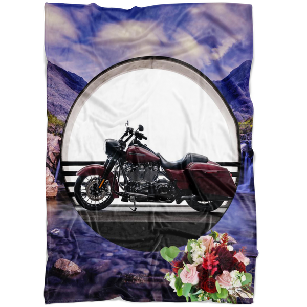 Harley Motorcycle Blanket - The Green Gypsie
