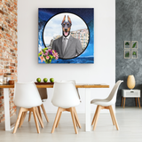 Cooper Doberman Square Canvas