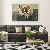 Coco Chihuahua Rectangle Canvas - The Green Gypsie