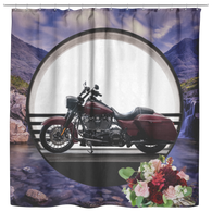 Harley Motorcycle Shower Curtain - The Green Gypsie