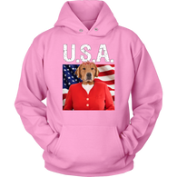 GiGi Golden Retriever USA Hoodie - The Green Gypsie