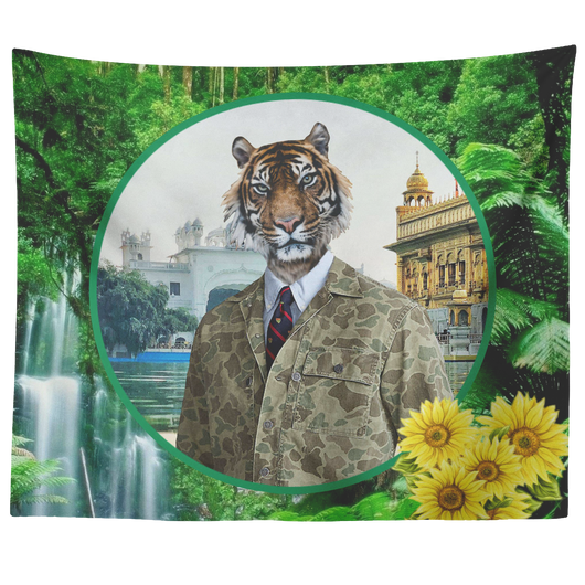 Chase Lion Tapestry - The Green Gypsie