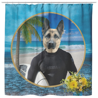 Gizmo German Shepherd Shower Curtain