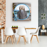 Hunter Havanese Square Canvas - The Green Gypsie