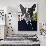 Buddy Boston Terrier Rectangle Canvas - The Green Gypsie