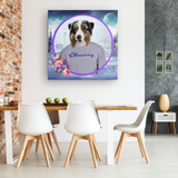 Ace Australian Shepherd Square Canvas - The Green Gypsie