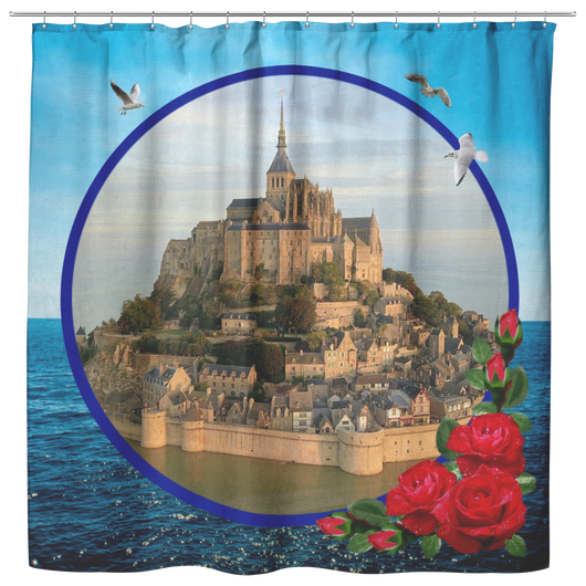 Mont Saint-Michel Shower Curtain - The Green Gypsie