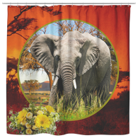 Emma Elephant Shower Curtain - The Green Gypsie