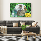 Chase Lion Rectangle Canvas - The Green Gypsie
