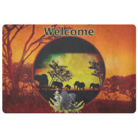 Elephant Sunset Doormat - The Green Gypsie