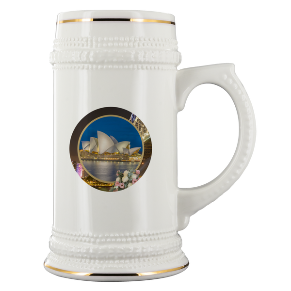 Australia Beer Stein - The Green Gypsie