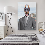 Cooper Doberman Pincher Canvas - The Green Gypsie