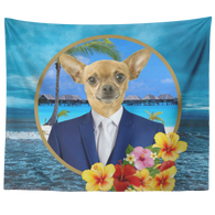 Chico Beach Chihuahua Tapestry - The Green Gypsie