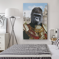 Albert Gorilla Rectangle Canvas - The Green Gypsie