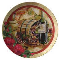 Wine Vintage Plate - The Green Gypsie