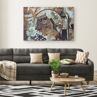 Kitty Cat Art Canvas - The Green Gypsie