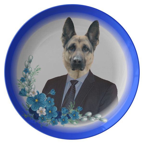 Gizmo German Shepherd Plate - The Green Gypsie