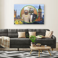 Rory & Logan Sloth Rectangle Canvas - The Green Gypsie