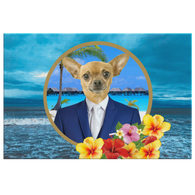 Chico Chihuahua Rectangle Canvas
