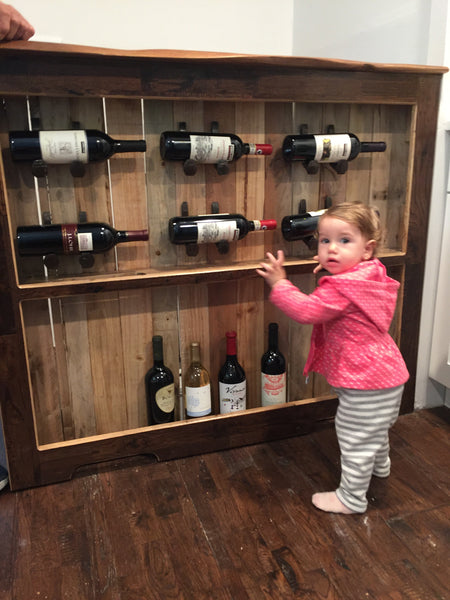 Custom Upcycled Pallet Wine Rack // Wine Hutch // Pallet Kitchen Decor