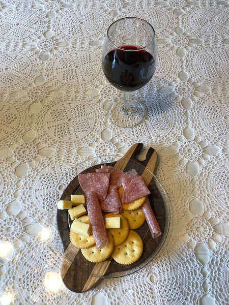 Wooden Wine Plate // Party Plate // Appetizer Plate