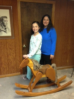 Angelo's niece, Tina, with her daughter, Bella, and their heirloom Cavallo Lavianese!