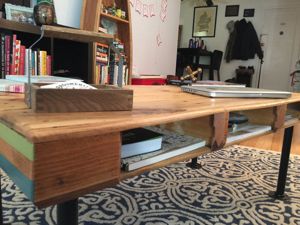 Upcycled Pallet Coffee Table // il tavolo bancale da caffè