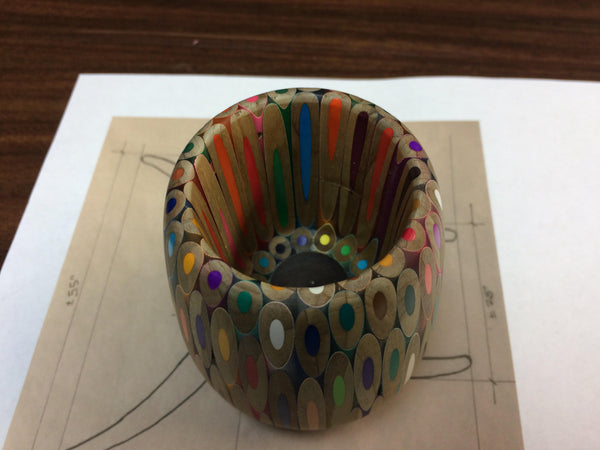 Colored Pencil Bowl // Colored Pencil Cup // Colored Pencil Project