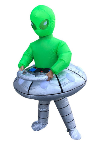 Inflatable Alien in UFO Costume For Adult