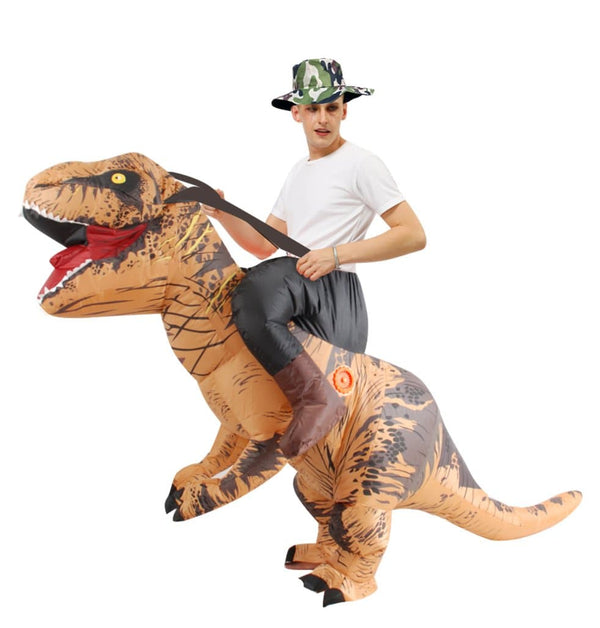 Inflatable Riding Dinosaur Costume For Adult Men